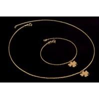 Złoty komplet biżuterii CELEBRYTKA - KONICZYNKA