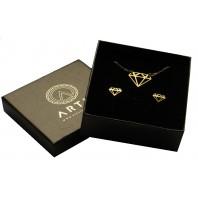 Złoty komplet biżuterii CELEBRYTKA - DIAMENT