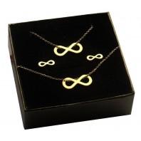 Złoty komplet biżuterii CELEBRYTKA - INFINITY
