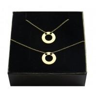 Złoty komplet biżuterii - CELEBRYTKA - KÓŁKO