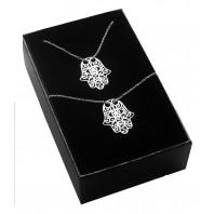 Srebrny komplet biżuterii CELEBRYTKA -  Ręka Fatimy