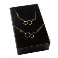 Złoty komplet biżuterii - CELEBRYTKA - SEROTONINA