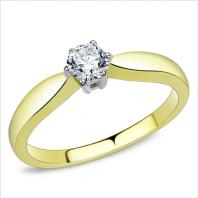 Złoty pierścionek zaręczynowy ONE WAY