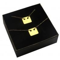 Naszyjnik i bransoletka złoty PROSTOKĄT