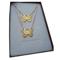 Złoty Komplet motyle celebrytka