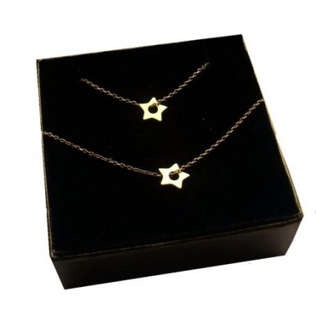 Złoty komplet biżuterii CELEBRYTKA - GWIAZDKA
