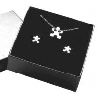 Srebrny komplet CELEBRYTKA - puzzle