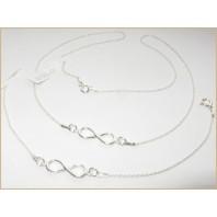 Srebrny komplet biżuterii CELEBRYTKA - INFINITY