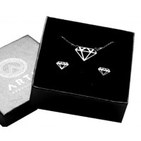 Srebrny komplet biżuterii CELEBRYTKA - DIAMENT