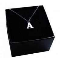 Srebrny łańcuszek z literką A