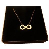 Złoty naszyjnik infinity CELEBRYTKA 45 cm