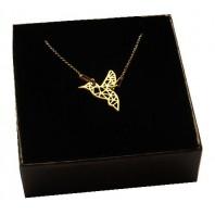 Złoty naszyjnik koliber ORIGAMI