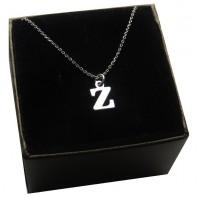 Srebrny łańcuszek z literką Z