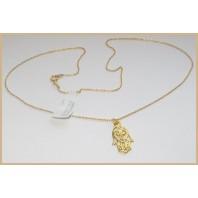 Złoty naszyjnik HAMSA RĘKA FATIMY talizman na szczęście 45 cm