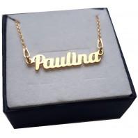 Złoty naszyjnik imiennik - PAULINA