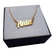 Złoty naszyjnik imiennik - Ania