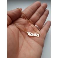 Złoty naszyjnik imiennik - KASIA