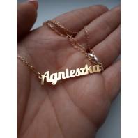Złoty naszyjnik imiennik - Agnieszka
