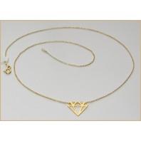 Złoty naszyjnik celebrytka DIAMENT 50cm