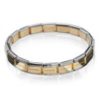 Złoto - srebrna bransoletka baza Maybeme