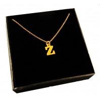 Złoty Naszyjnik łańcuszek literka Z srebro 925
