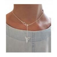 Srebrny naszyjnik CELEBRYTKA infinity koliber