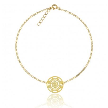 Złota bransoletka - AŻUR