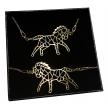 Komplet koń ORIGAMI CELEBRYTKA złoty