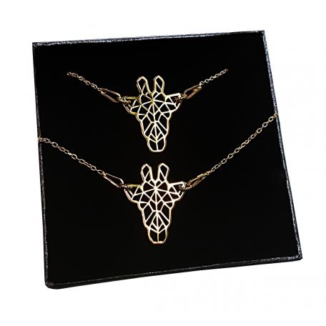 Komplet żyrafa ORIGAMI CELEBRYTKA złoty