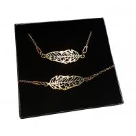 Komplet piórko origamiCELEBRYTKA złoty