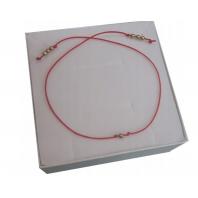 Złota bransoletka szczęścia sznurkowa SREBRO 925
