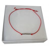 Srebrna bransoletka szczęścia sznurkowa SREBRO 925