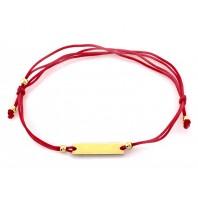 Bransoletka sznurkowa INFINITY SREBRO 925 GRAWER