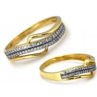 Złoty pierścionek zaręczynowy 585