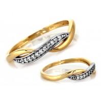 Śliczny złoty pierścionek 585