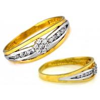 Śliczny złoty pierścionek 585  FLOW rozmiar 16