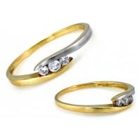 Złoty pierścionek zaręczynowy LADY 585 rozmiar 11