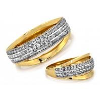 Złoty pierścionek  MONA 585 rozmiar 19