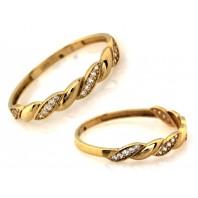 Złoty pierścionek zaręczynowy SOFIR 585 rozmiar 18