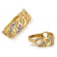 Złoty pierścionek  pancerka 585 rozmiar 16