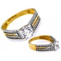 Złoty pierścionek zaręczynowy BEROS 585 rozmiar 18