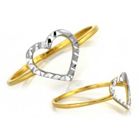Złoty pierścionek SERCE 585 rozmiar 18
