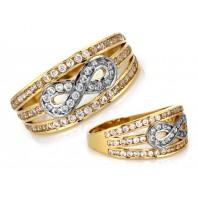 Złoty pierścionek nieskończoność INFINITY 585 rozmiar 21