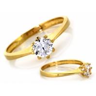 Złoty pierścionek zaręczynowy 585 rozmiar 18