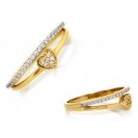 Złoty pierścionek zaręczynowy SERCE OBRĄCZKA 585 rozmiar 16