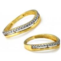 Złoty pierścionek obrączka 333 rozmiar 15
