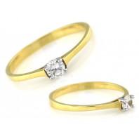 Złoty pierścionek zaręczynowy333 rozmiar 14