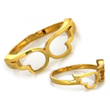 Złoty pierścionek 333 skrzydła anioła rozmiar 11
