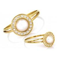 Złoty pierścionek z perłą 333 rozmiar 15