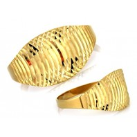 Złoty pierścionek diamentowany 333 rozmiar 14